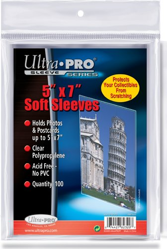 ultra-pro-5-x-7-soft-sleeves-100-trading-cards-or-photo