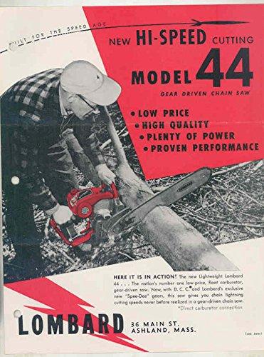 1957 Lombard Model 44 Chainsaw Brochure