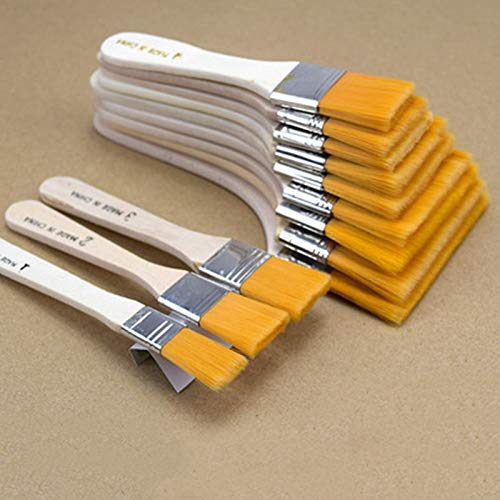 12pcs/Set Multifunction Oil Painting Brush And BBQ Brush For Painting Art Easy For Wooden Cleaning -  tto