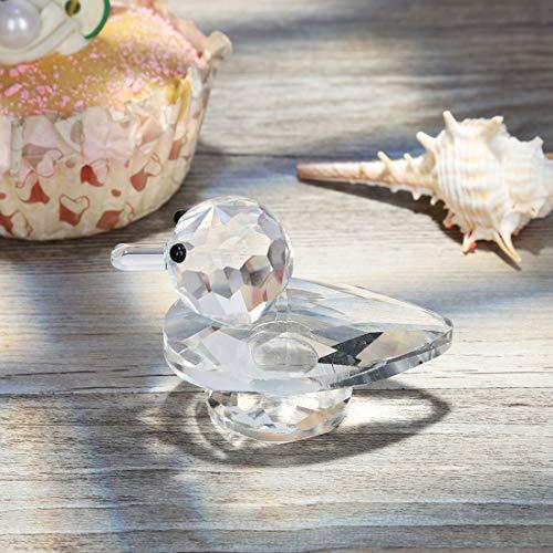 H&D Crystal Animal Figurine Mini Duck Figurine,1.7Inch