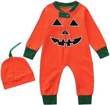 Bodies Bebe Manga Larga Recien Nacido Halloween Calabaza Disfraz Body Bebes Capucha Ni/ña Ropa Bebe Ni/ño Mameluco Ni/ños