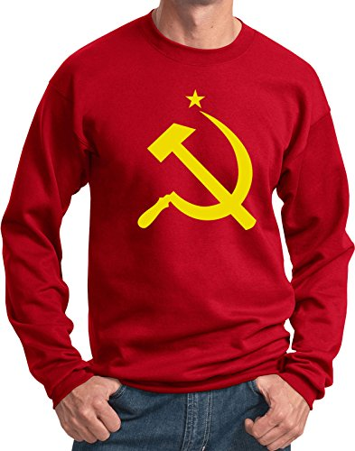 (Buy Cool Shirts Yellow Hammer and Sickle Sweatshirt, Red 3XL)