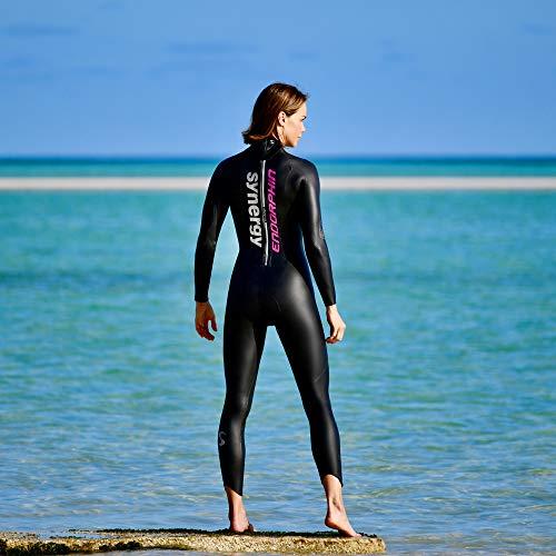 Synergy Triathlon Wetsuit 5/3mm - Women's Endorphin Fullsleeve Smoothskin Neoprene for Open Water Swimming Ironman & USAT Approved