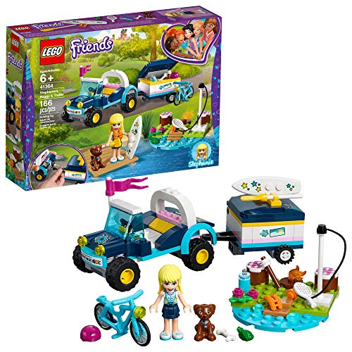 LEGO Friends Stephanie's Buggy & Trailer 41364 Building Kit , New 2019 (166 Piece)