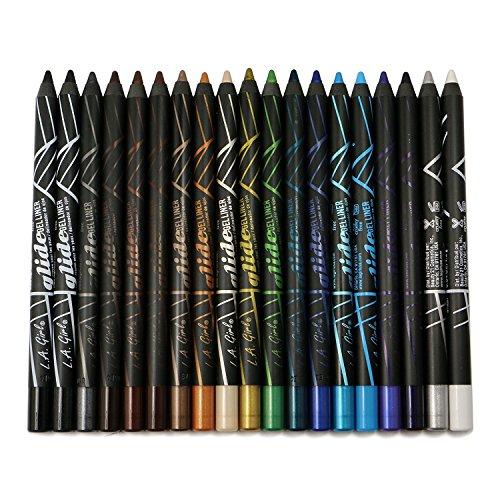 19pc LA Girl Gel Glide Eyeliner Pencil set of 19 color GP351-369