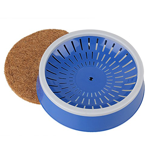 Blue Warm Pigeons Supplies Plastic Bird Eggs Basin Nest with Grass Mat