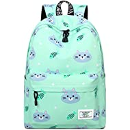 Bookbags for Teens, Cute Cat and Fish Laptop Backpack School Bags Travel Daypack Handbag by...