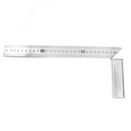Uxcell 90 Degree Right Angle L Shaped Square Ruler Tool 30cm12