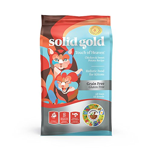 Solid Gold - Touch of Heaven - Natural Chicken & Sweet Potato - Grain-Free & Gluten-Free - Holistic Dry Kitten Food - 6 lbs