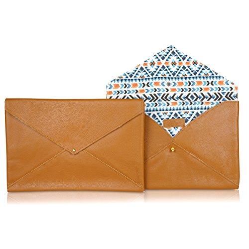 Funky Monkey Fashion Brand Envelope Clutch Bag For Women | Ladies Casual Evening Purse | Girls Night Club and Wedding Party Handbag - Aztec - Tan by Funky Monkey Fashion