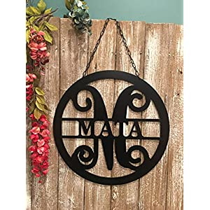 "Personalized Last Name Sign for Condominium Apartment Townhouse18"" ACM Metal Family Name Sign Custom Monogram Door Wreath Last Name Door Hanger Closing Gift QUICK SHIPPING Outdoor Patio Decor 12"
