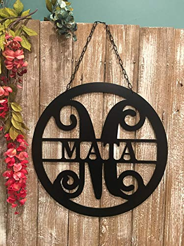 Personalized Last Name Sign for Condominium Apartment Townhouse 18 inch ACM Metal Family Name Sign Custom Monogram Door Wreath Last Name Door Hanger Closing Gift Outdoor Patio Decor QUICK SHIPPING