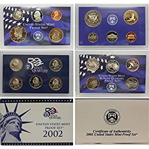 2002 S US Mint Proof Set Original Government Packaging