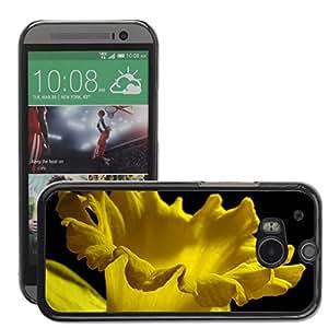 Super Stellar Slim PC Hard Case Cover Skin Armor Shell Protection // M00052202 daffodil yellow macro aero spring // HTC ONE M8
