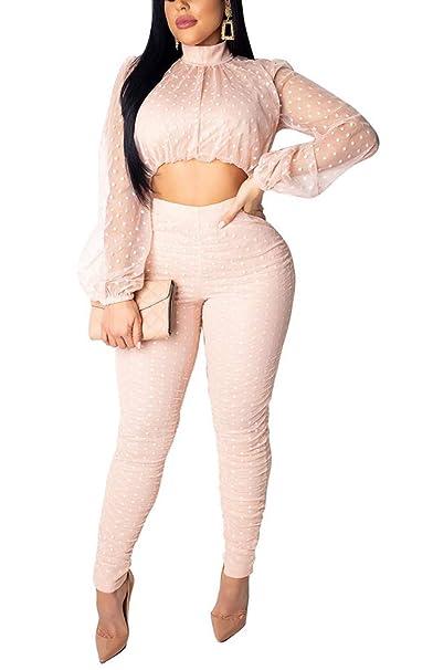 Amazon.com: Conjunto de 2 piezas de ropa de mujer 2019 ...