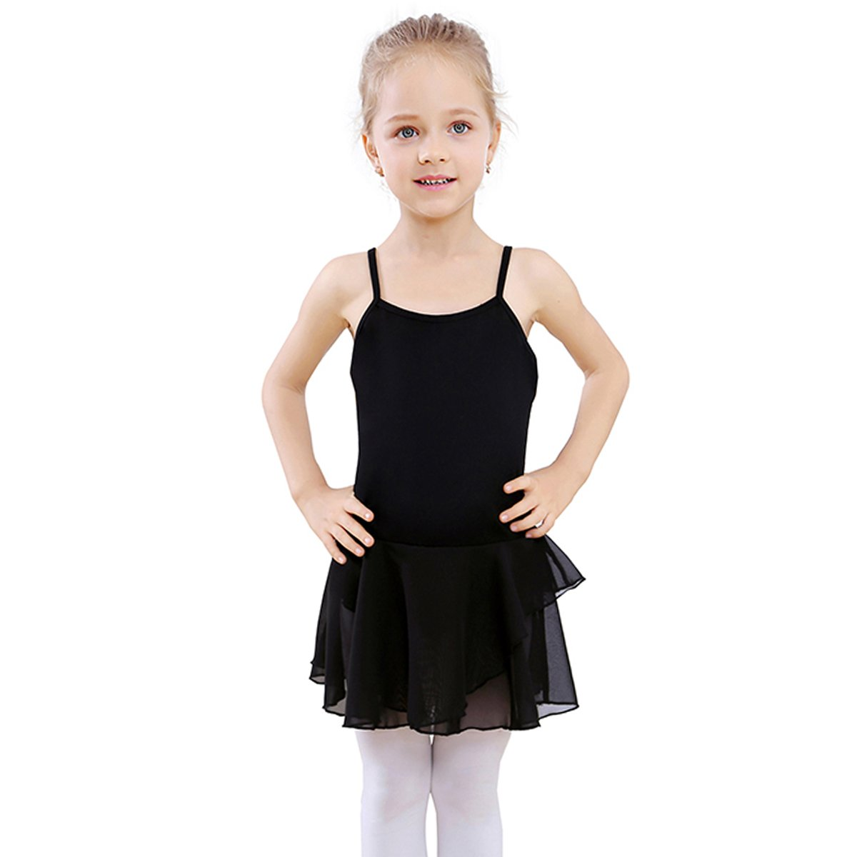 7714086a3 STELLE Girl s Cotton Camisole Dress Leotard for Dance