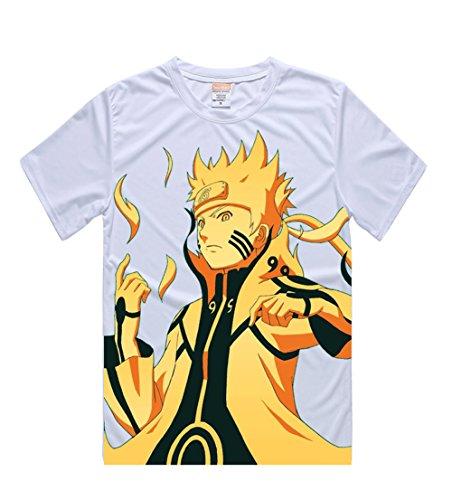 Naruto Shippuden Cosplay Anime T-shirt for Men Short Sleeve