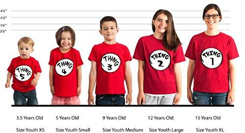 Amazon.com: OCPrintShirts Kids Youth Toddler Thing 1 2 3 4 5 6 7 8 ...