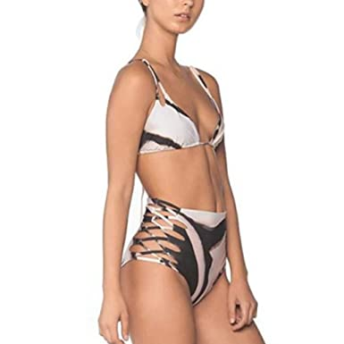 begehrteste Mode Neue Produkte anders Damen Bikini-Set Zweiteiliger Badeanzug mädchen Bikini high ...