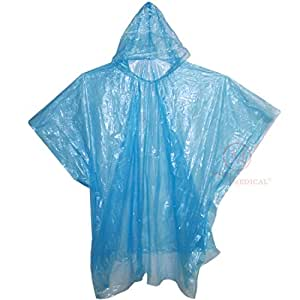 Amazon.com: Disposable Rain Ponchos with Hood, MCR Medical