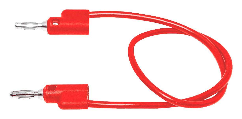 MUELLER ELECTRIC BU-PB12-2 Test Lead, 4mm Stackable Banana Plug, 4mm Stackable Banana Plug, 1 kV, 15 A, Red, 300 mm