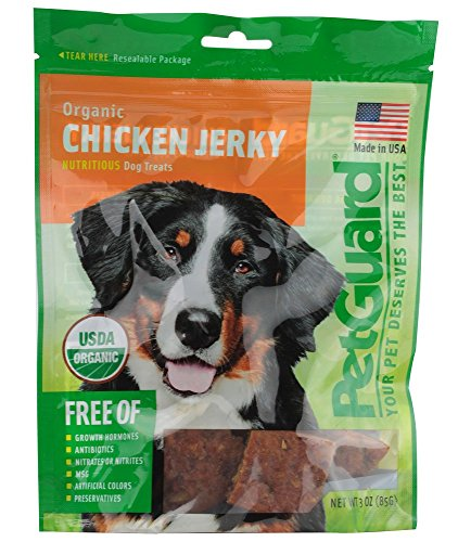 PetGuard Organic Chicken Jerky Grain-Free Dog Treats, 3-oz Bag