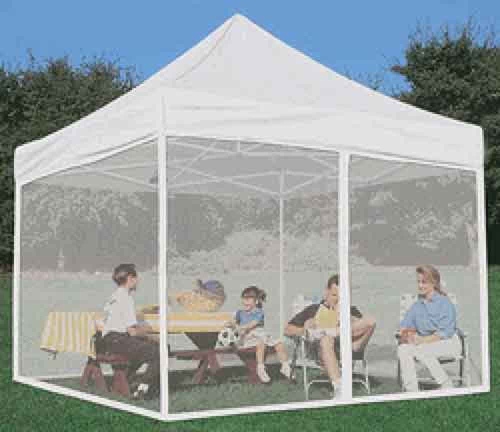 Amazon.com Impact Canopy Side Wall Kit Mesh Screen Zippered Wall Panels for 10x10 Instant Pop Up Tent Canopies Walls Only White Garden u0026 Outdoor : deck canopy with screen - memphite.com