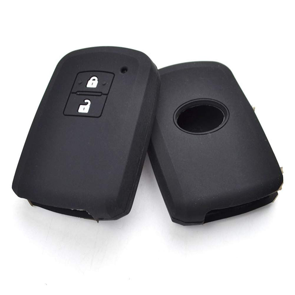 Happyit Silicone Car Key Case Cover for Toyota Auris Camry RAV4 Avalon Yaris Verso 2012-2018 2 Button Keyless Shell Holder