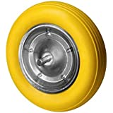 Wolfpack - Sturdy Yellow Construction Wheelbarrow Wheel by WOLFPACK