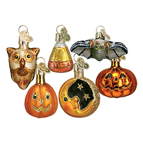 Old World Christmas Glass Blown Ornament with S-Hook and Gift Box, Halloween Collection (Mini Halloween Assortment)