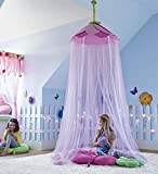 HearthSong® Secret Garden Hideaway Bed Canopy Hanging Play Tent for Kids Bedroom, 7' H with 12' Bottom Circumference - Pink