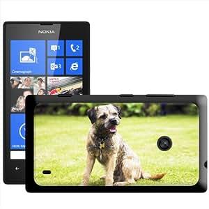 Fancy A Snuggle 'de Border Terrier sentado hierba' carcasa Rígida para Nokia Lumia 520