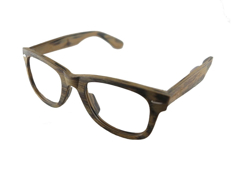 Mangekyo Vintage Wooden Glasses Frame Large Round Light Brown and Black Mix