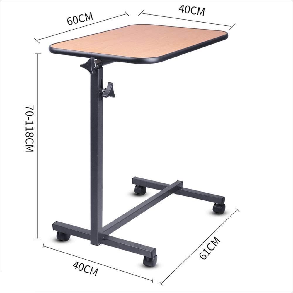 NAN Tavolino da Salotto//da Tavolo Portatile Tavolo da Pranzo Pieghevole da Tavolo Multifunzione Regolabile e con Ruote Ribaltabile