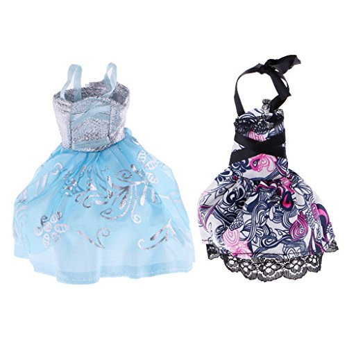 Homyl 2pcs Party Outfit Lace Skirt Evening Dress for Monster High Doll Complete Look Accessories
