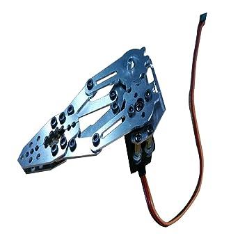 NON Baoblaze Robot Mecánico Kit de Abrazadera de Garra de Brazo Robotic Arm Gripper Garra de Agarre de Robot Pinza para Arduino Asamblea DIY Accesorio ...