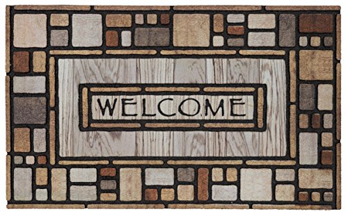 Mohawk Home Doorscapes Drifted Nature Mat, 1'6x2'6, Multi (Welcome Outdoor Mat)