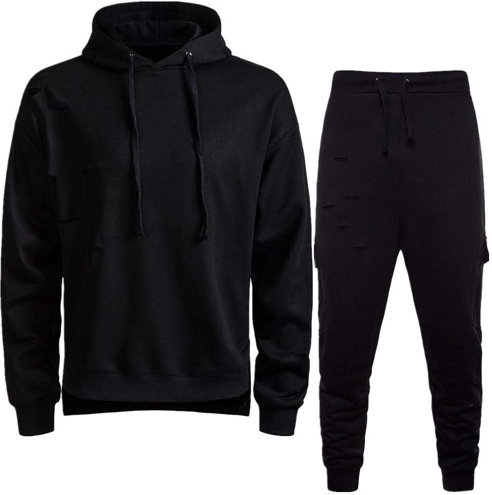 Winwinus Mens Summer Oversize Sports Short-Sleeve Pullover Sweatsuit Set