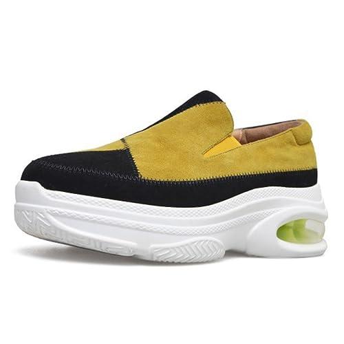 GAOLIXIA Mocasines de Plataforma de Las Mujeres Zapatos Casuales a Juego de Color Plano Resbalón en los Zapatos Ocasionales Cómodo Cojín de Aire Caminando ...