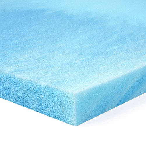 Red Nomad - Twin XL Size 2 Inch Thick, Ultra Premium Gel Infused Visco Elastic Memory Foam Mattress Pad Bed Topper - Made in the USA (Twin Foam Mattress Pad 2 Inch)