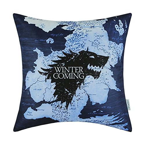 ArtoutletMF A Game of Thrones Houses Stark Winter Is Coming Pillowcase Cushion Cover Home Sofa Decorativ 18 X 18 Inch