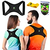 Back Posture Corrector for Women and Men and Resistance Band - Discreet and Comfortable Posture Brace to Prevent Slouching - Back Brace for Clavicle and Back Support - Regular