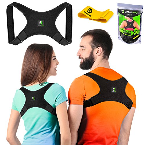 Evoke Pro Back Posture Corrector For Women And Men   Resistance Band   Trains Your Back Muscles To Prevent Slouching And Provides Back Pain Relief