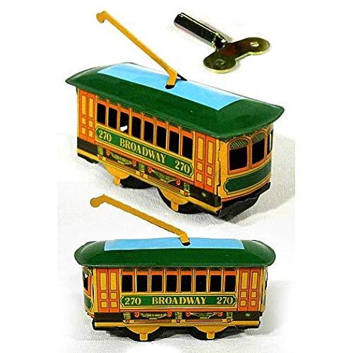 TinToyArcade Broadway New York Trolley Tin Wind Up (One Trolley with Key) ()