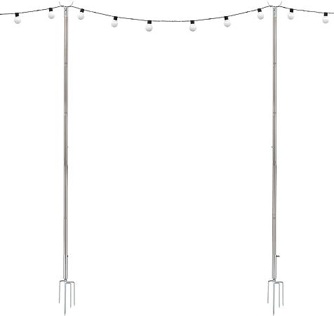 Cadena luces LED mástil mástil luces navideñas iluminación exterior