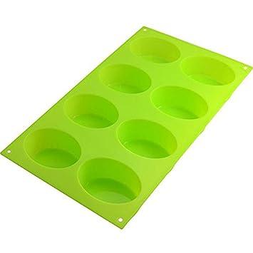 JER Molde para Horno de Silicona para 8 Cupcakes, Forma Ovalada: Amazon.es: Hogar