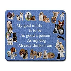 DOG BREEDS WITH SLOGAN MOUSE MAT PAD MOUSEPAD PLACEMAT