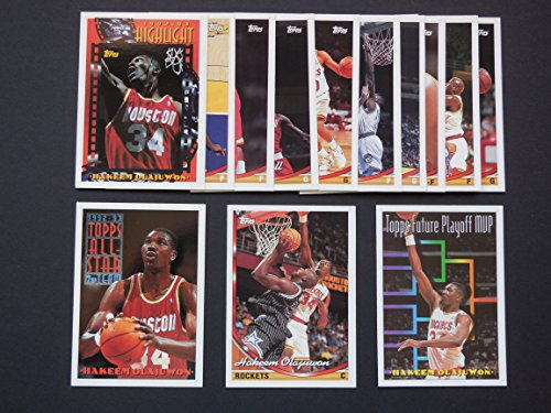 Houston Rockets 1993-94 Topps Basketball Team Set (NBA Finals World Champions) (4 Hakeem Olajuwon Cards) (Vernon Maxwell) (Robert Horry) (Sam Cassell Rookie)