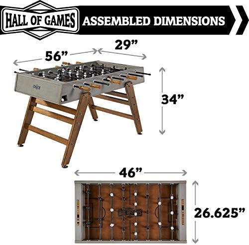 Hall of Games Kinwood - Mesa de futbolín (137 cm): Amazon.es ...