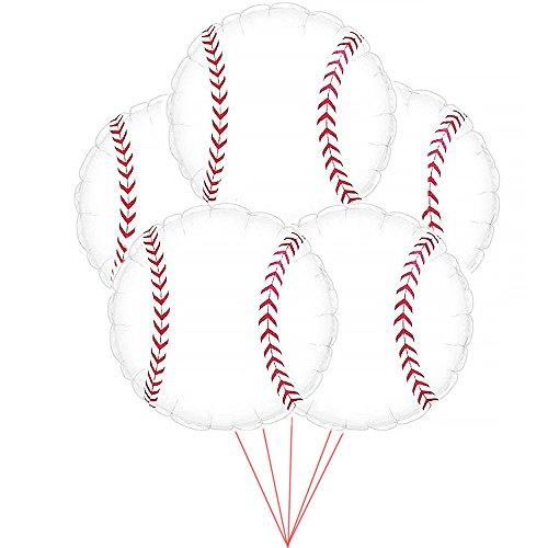Baseball Balloon (18 Inch Mylar) Pkg/10